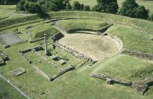 verulamium amphitheatre st albans, hertfordshire.